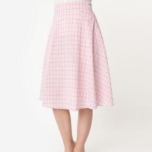 Unique Vintage Retro Vivien A-Line Skirt